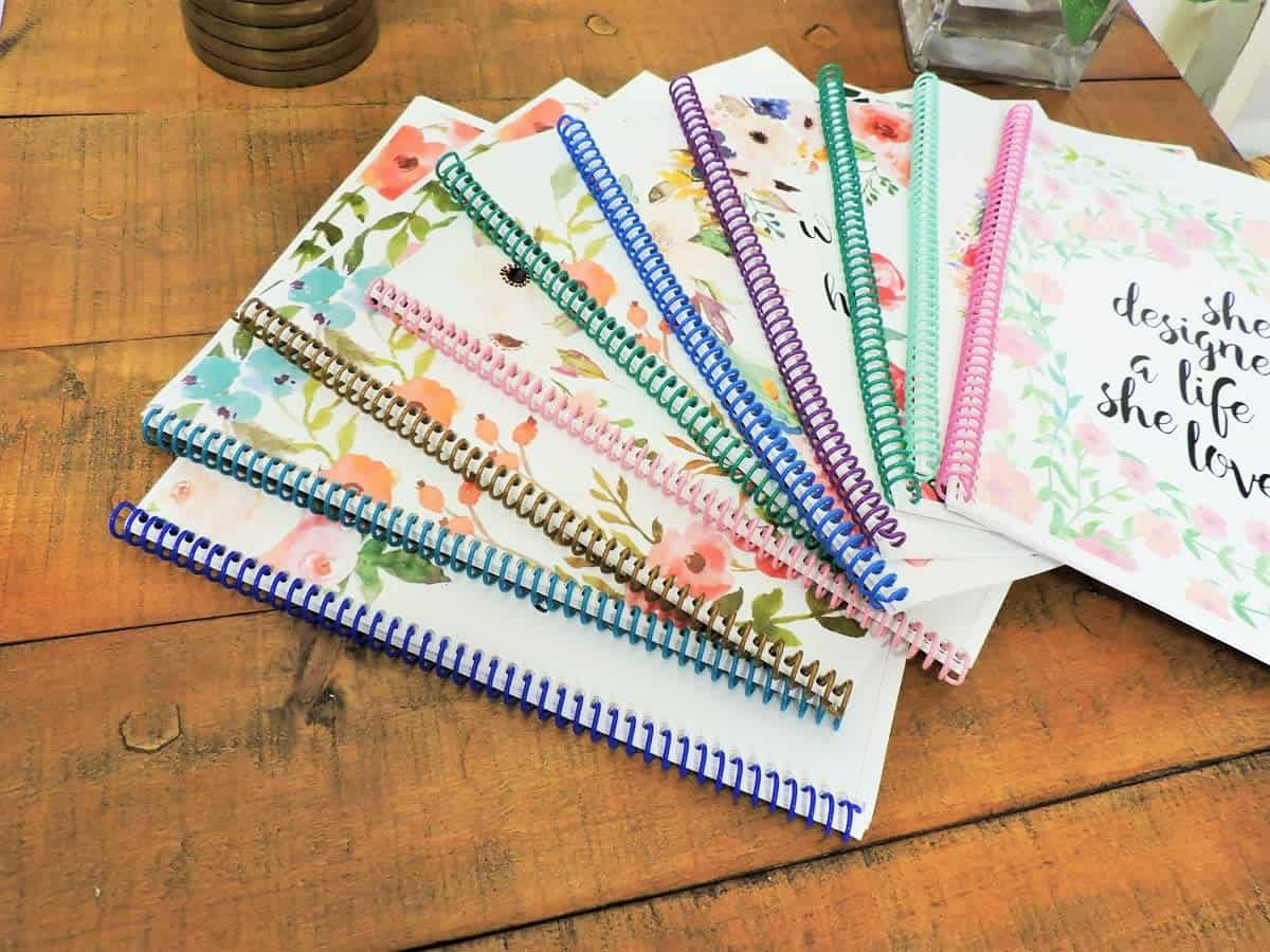 The variety of personalized Bible journals.