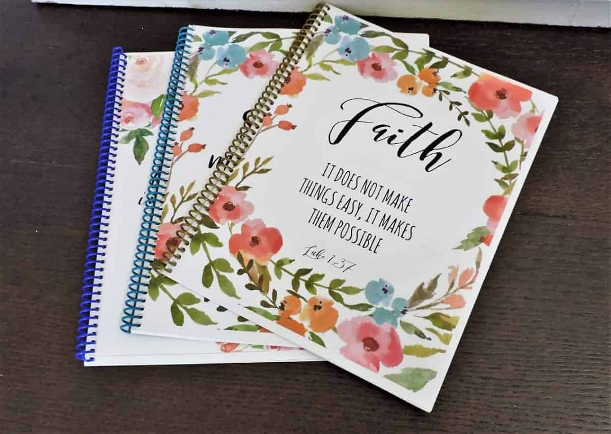 Personalized Bible journals on sale.