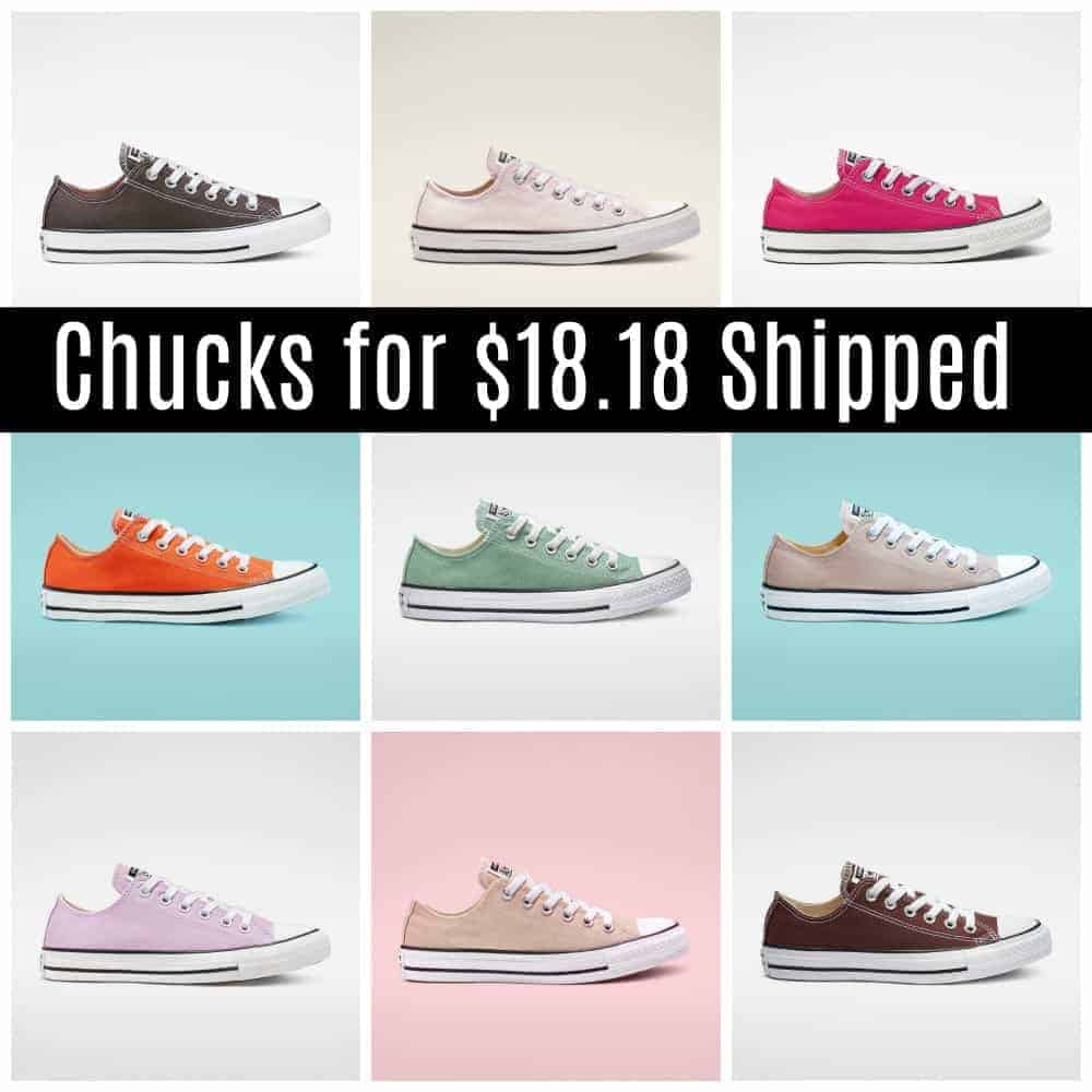Converse Chuck Taylor all-star shoes on sale.