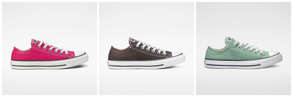 A grey pair of Converse chuck taylor all-star shoes.