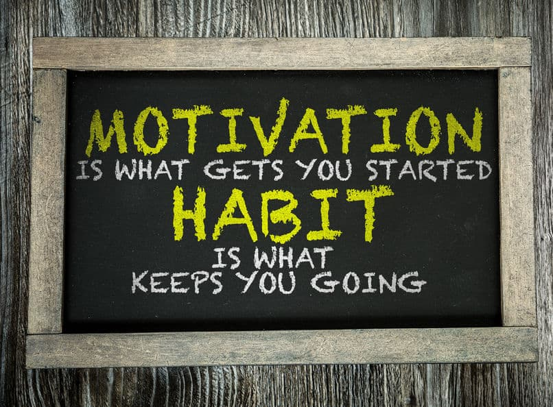 Quote about motivation and habits.