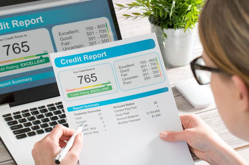 report credit score banking borrowing application risk form document loan business market concept