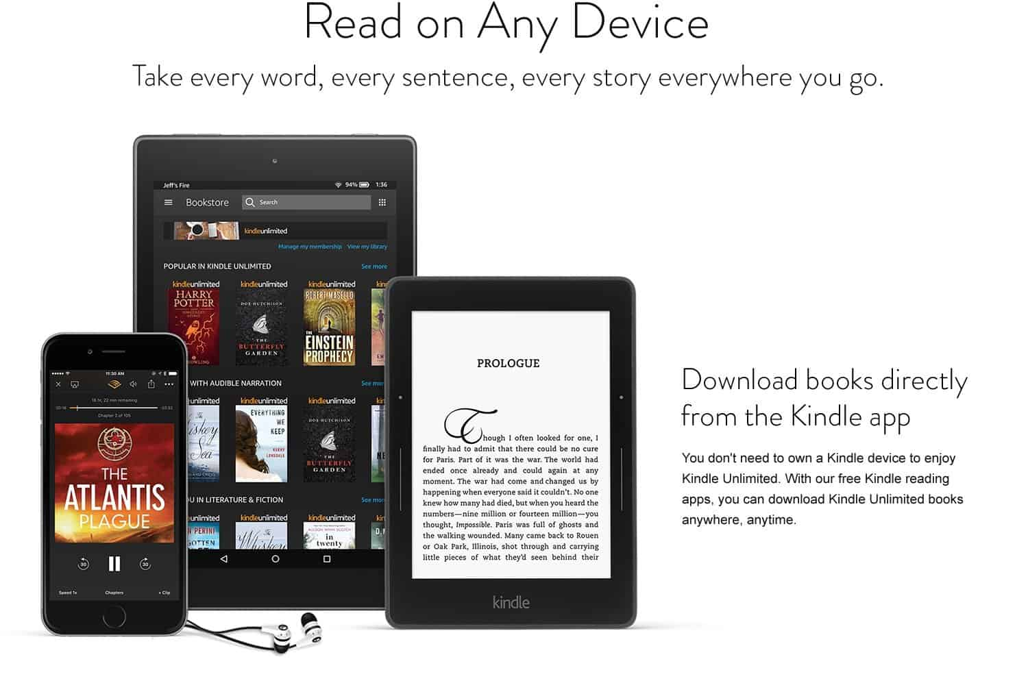 How to read a Kindle book on any device.