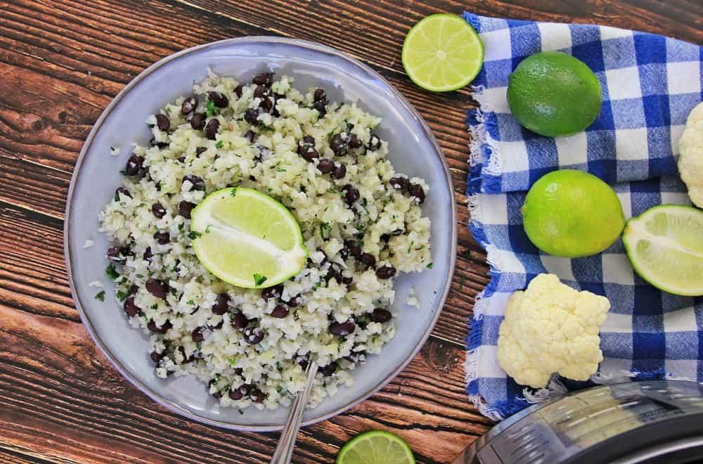 Cilantro Lime Cauliflower Rice Instant Pot Recipe