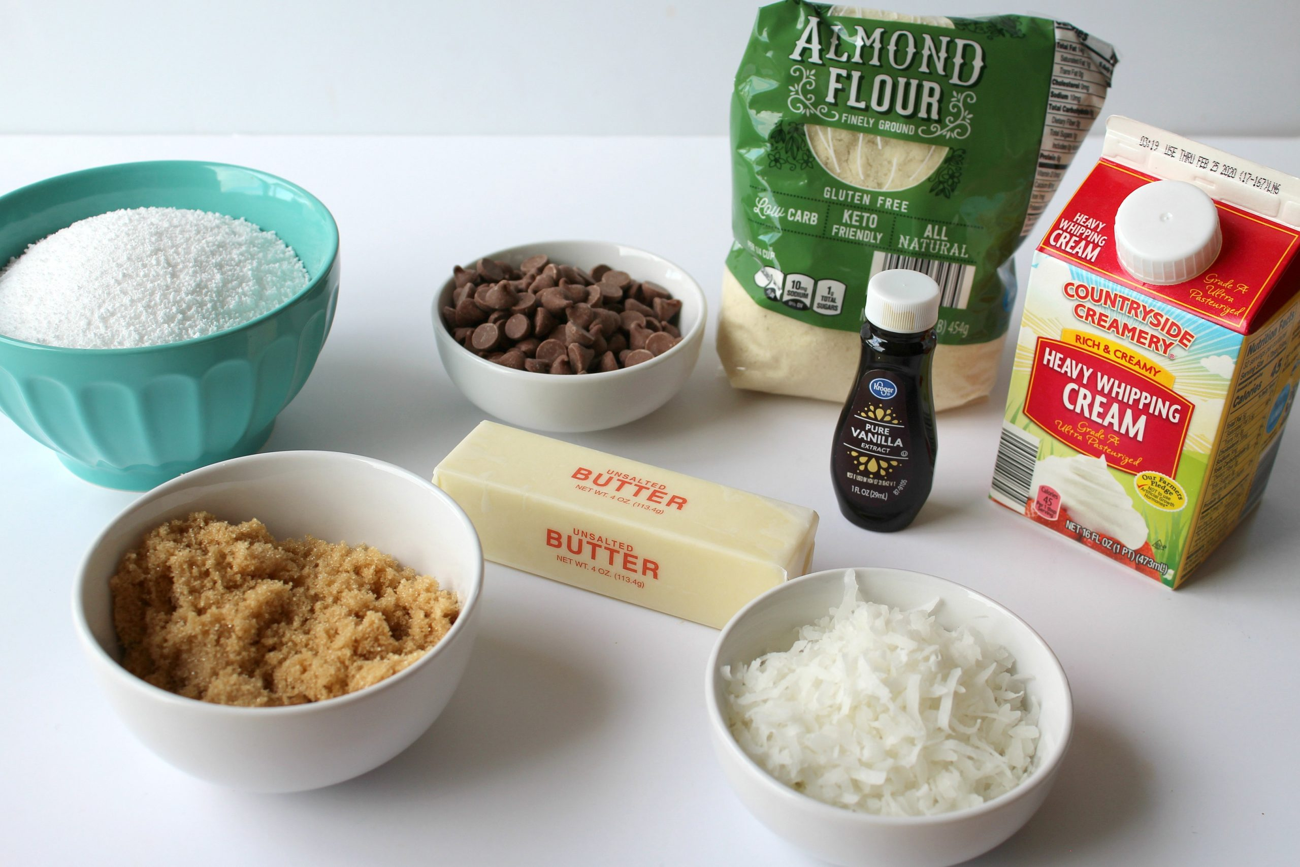 Samoas Cookie Bars Recipe Ingredients