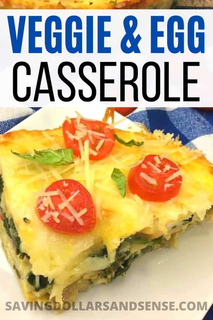 Bacon & Spinach Egg Casserole Recipe