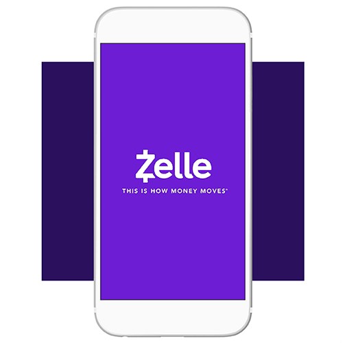 Zelle mobile payment app graphic