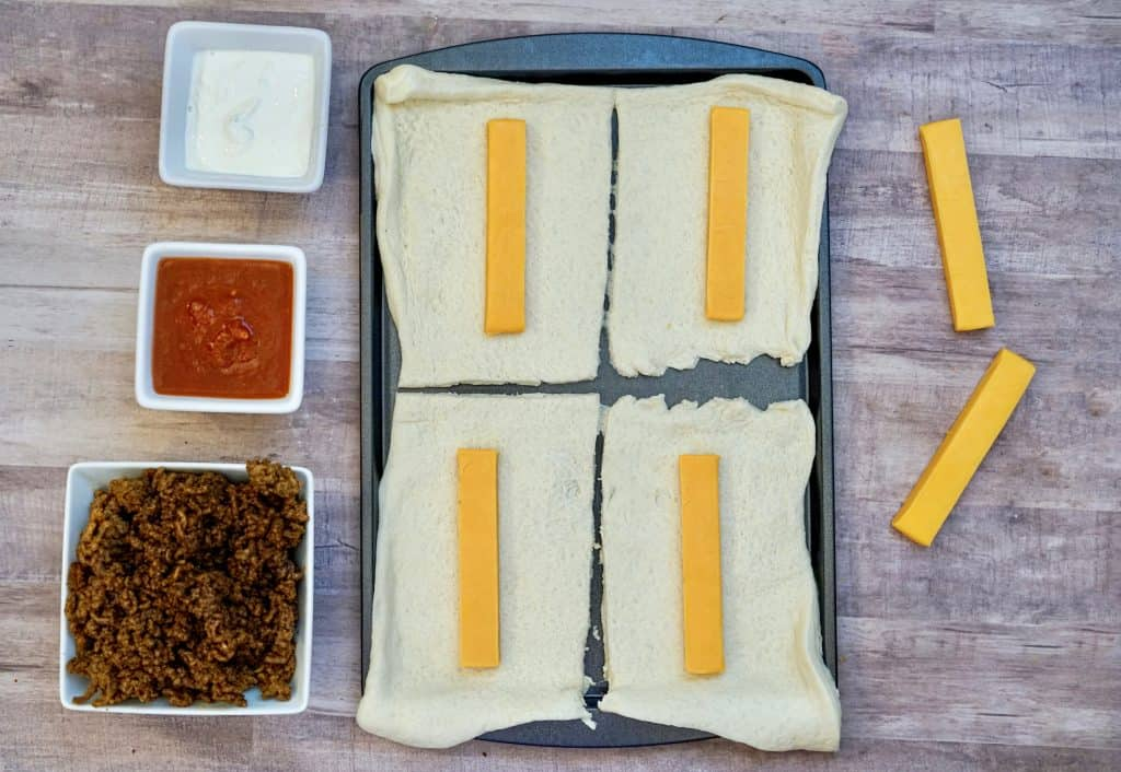 easy taco roll up recipe filled with cheese