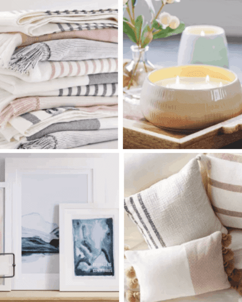 A variety of home decor from Hearth and Hand with Magnolia.