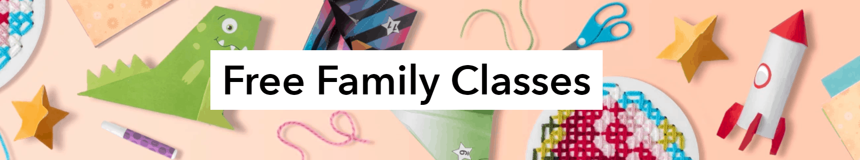 These are the family classes available through Bluprint free creativity care classes available online.