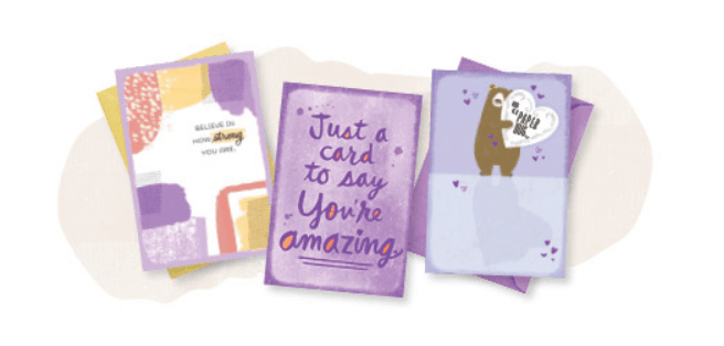 Hallmark greeting cards.