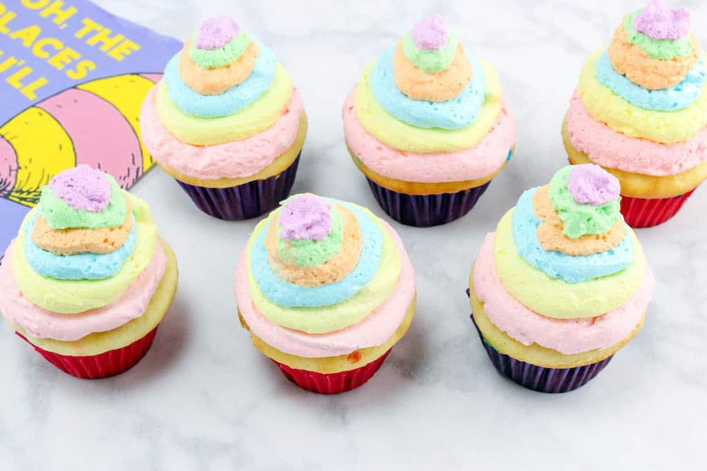 Oh, the places you will go cupcakes.