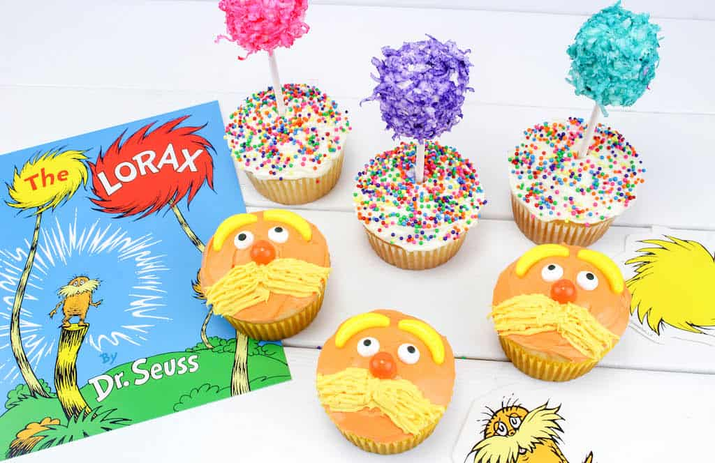 The Lorax cupcakes.