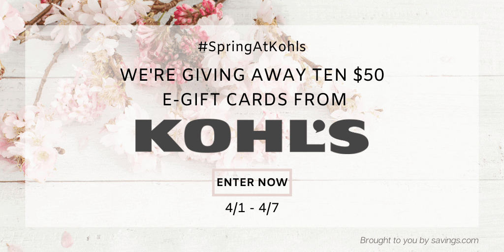 Kohl\'s gift card giveaway to go spring shopping.