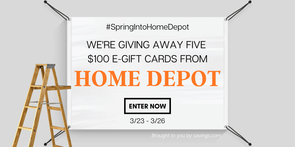 Home Depot e-gift card giveaway.