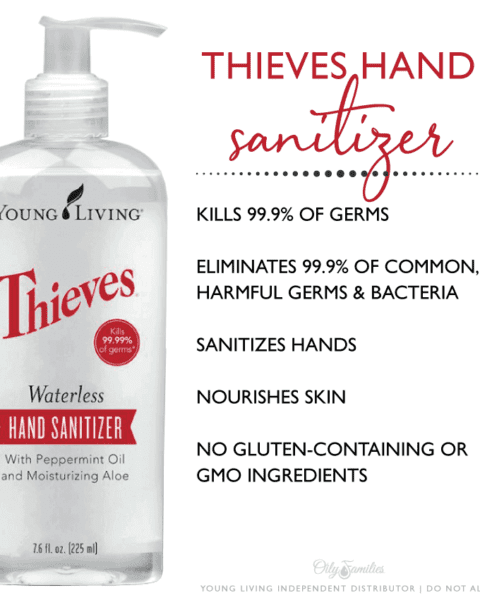 Thieves hand sanitizer benefits and information.
