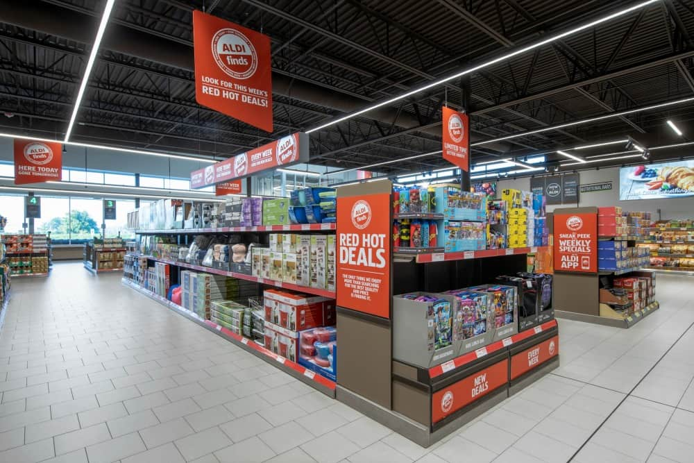 aldi store shelves