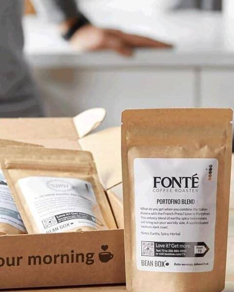 Bean Box artisan coffee kit.