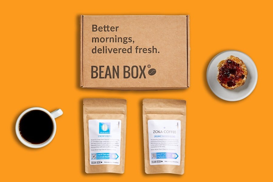 Bean box artisan coffee kit box.