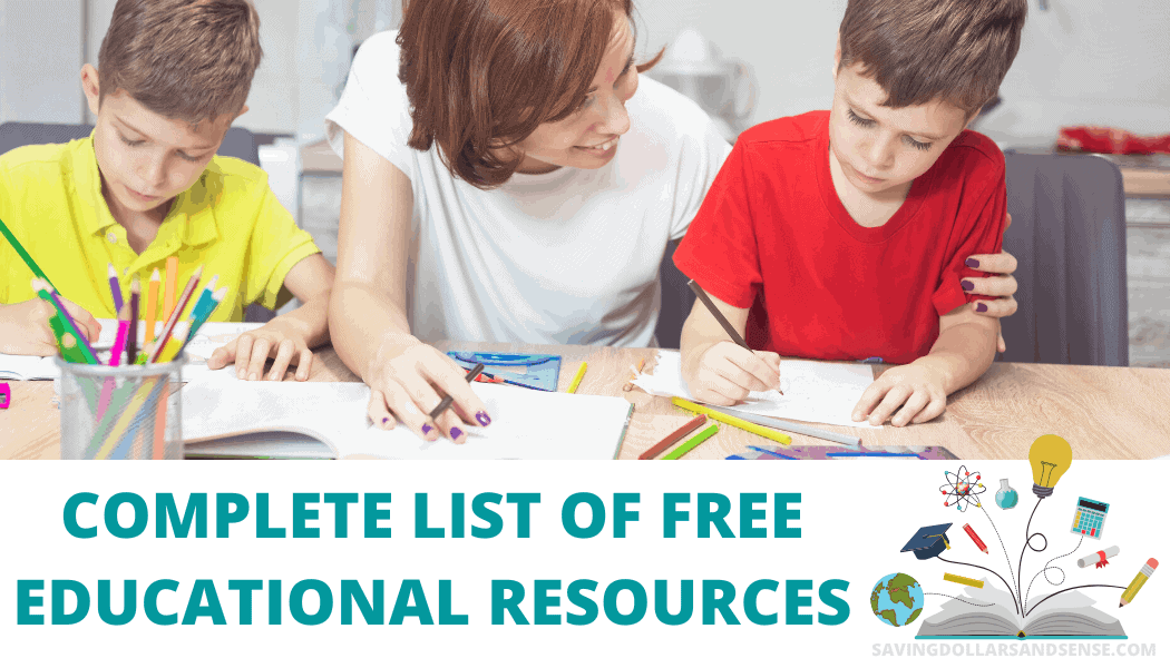Complete List of Free Educational Resources for Kids Who are Home Due to School Closings