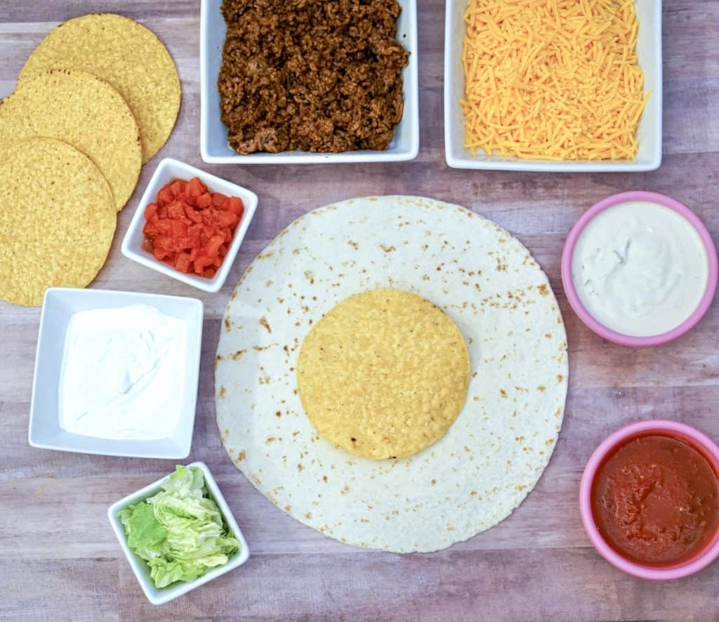 Ingredients needed for Delicious Crunchwrap Supreme Recipe
