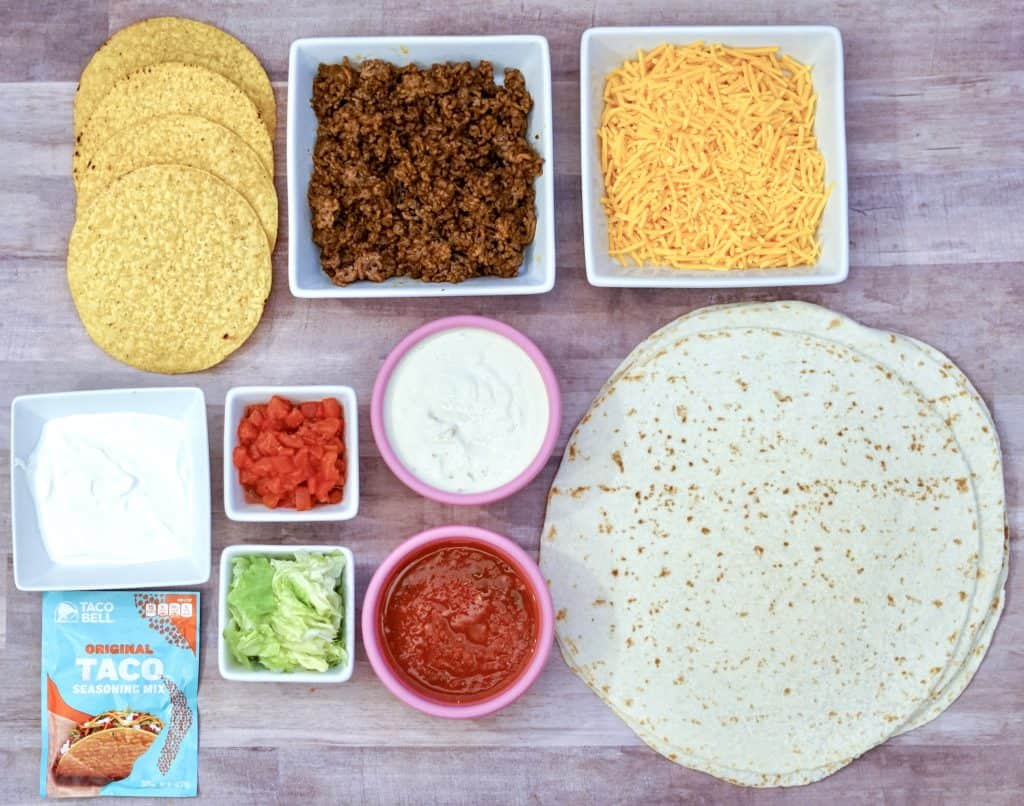 Delicious Crunchwrap Supreme Recipe ingredients needed.