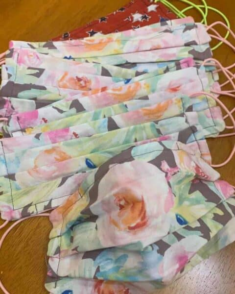 Free fabric for homemade face masks