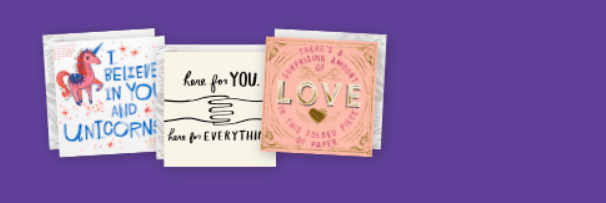 Variety of Hallmark greeting cards.