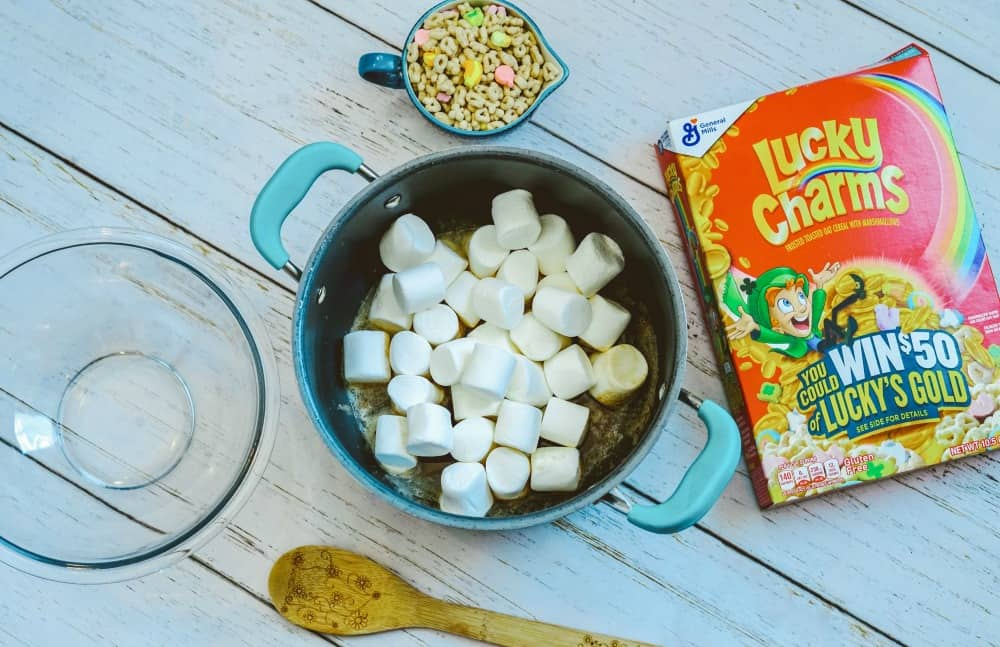 Ingredients for Lucky Charms Treats Recipe