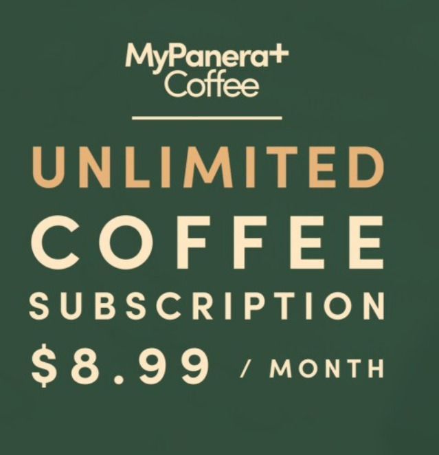 My Panera + Coffee unlimited subscription for 30-days.