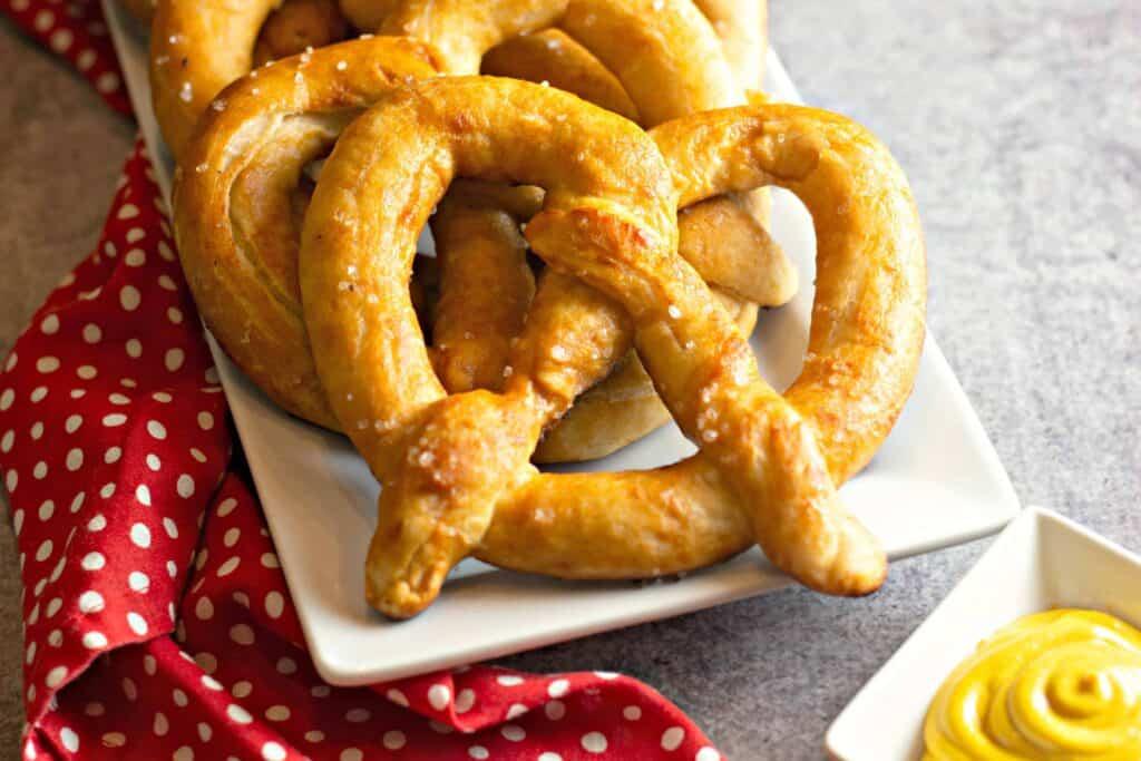 Homemade soft pretzel recipe.