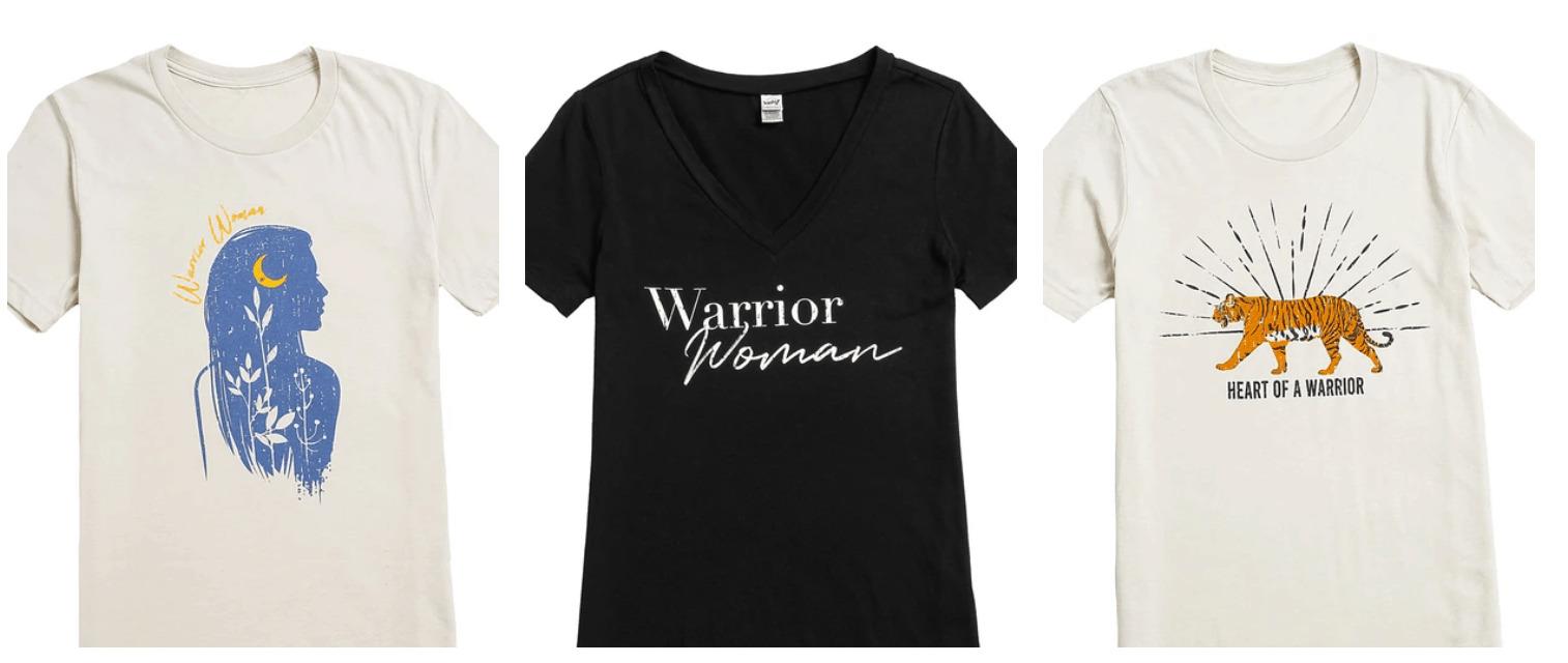 Warrior woman t-shirt.