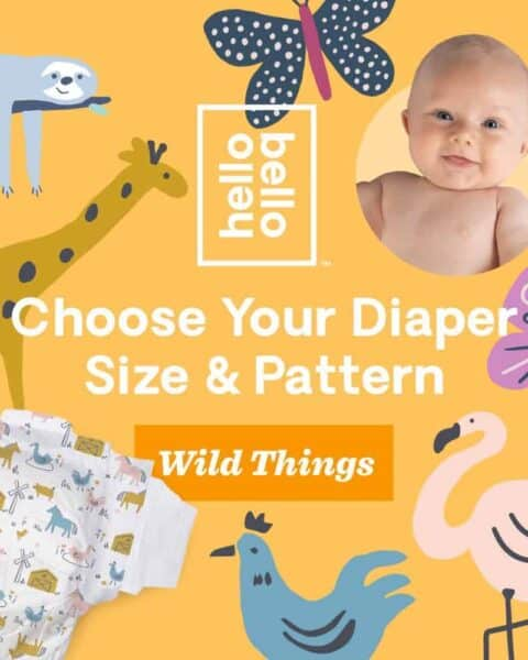 Choose your diaper size and pattern from Hello Bello discount diaper deals.