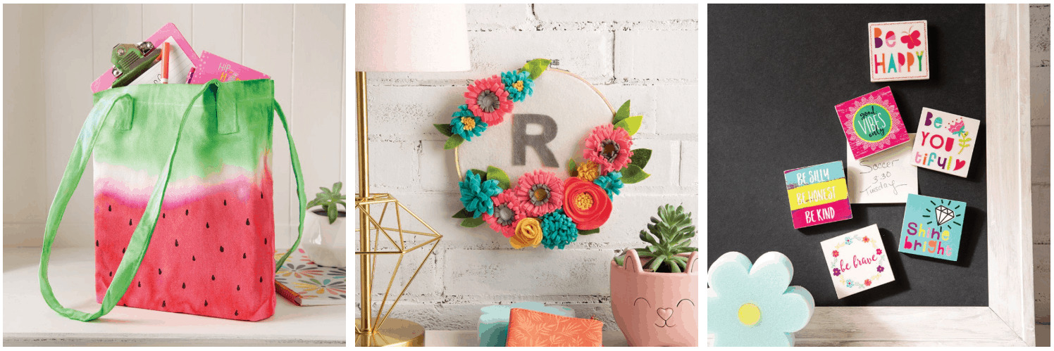 "Felt flower wreath with the letter ""R\"" from Creative girls club coupon and sale."