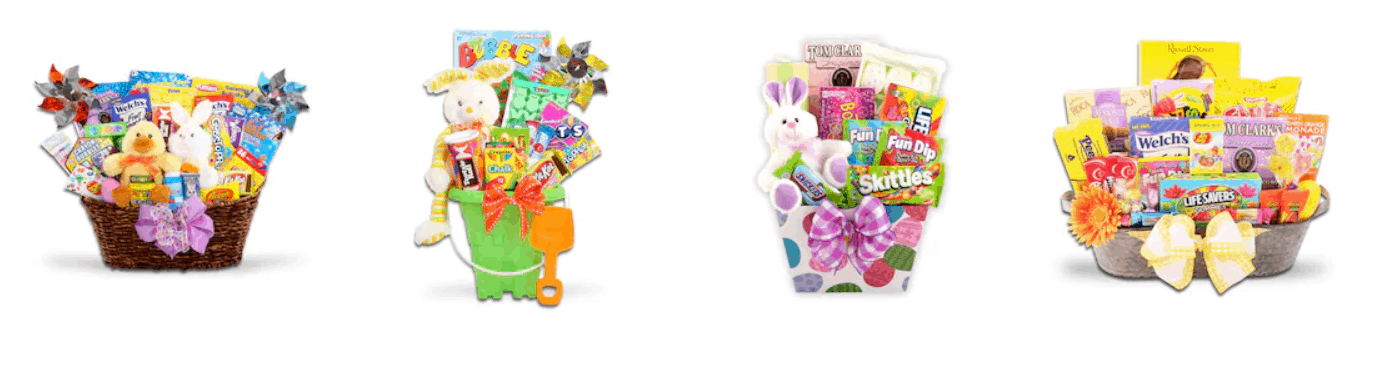 Easter baskets from Kohl\'s spring sale.