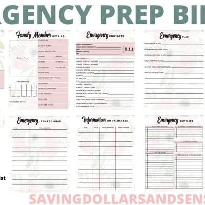 Emergency Preparedness Plan Binder