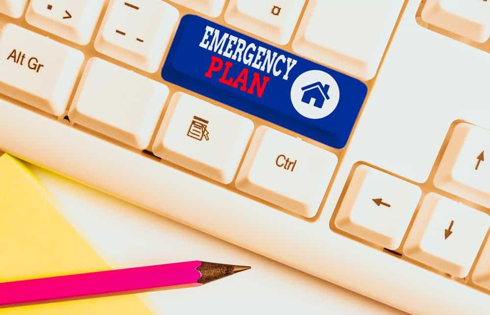 Emergency Plan button on a keyboard.