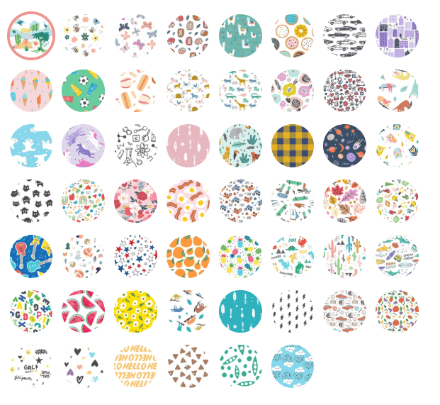 The different options of diaper patterns from Hello Bello.