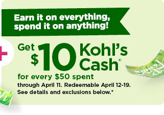 Kohl\'s cash on their spring sale items.
