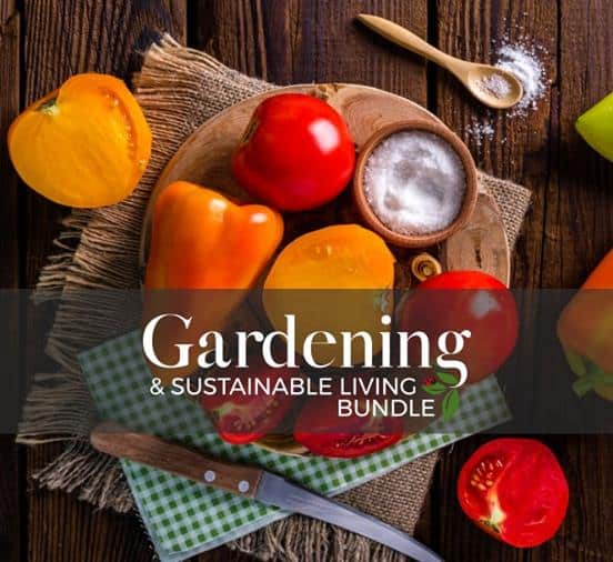 Gardening and sustainable living bundle available for a limited time.