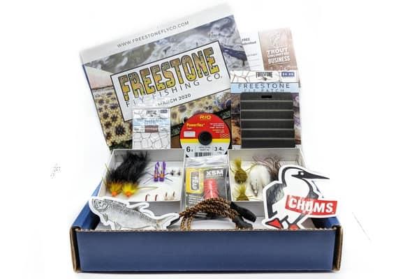 Freestone fly fishing company box.