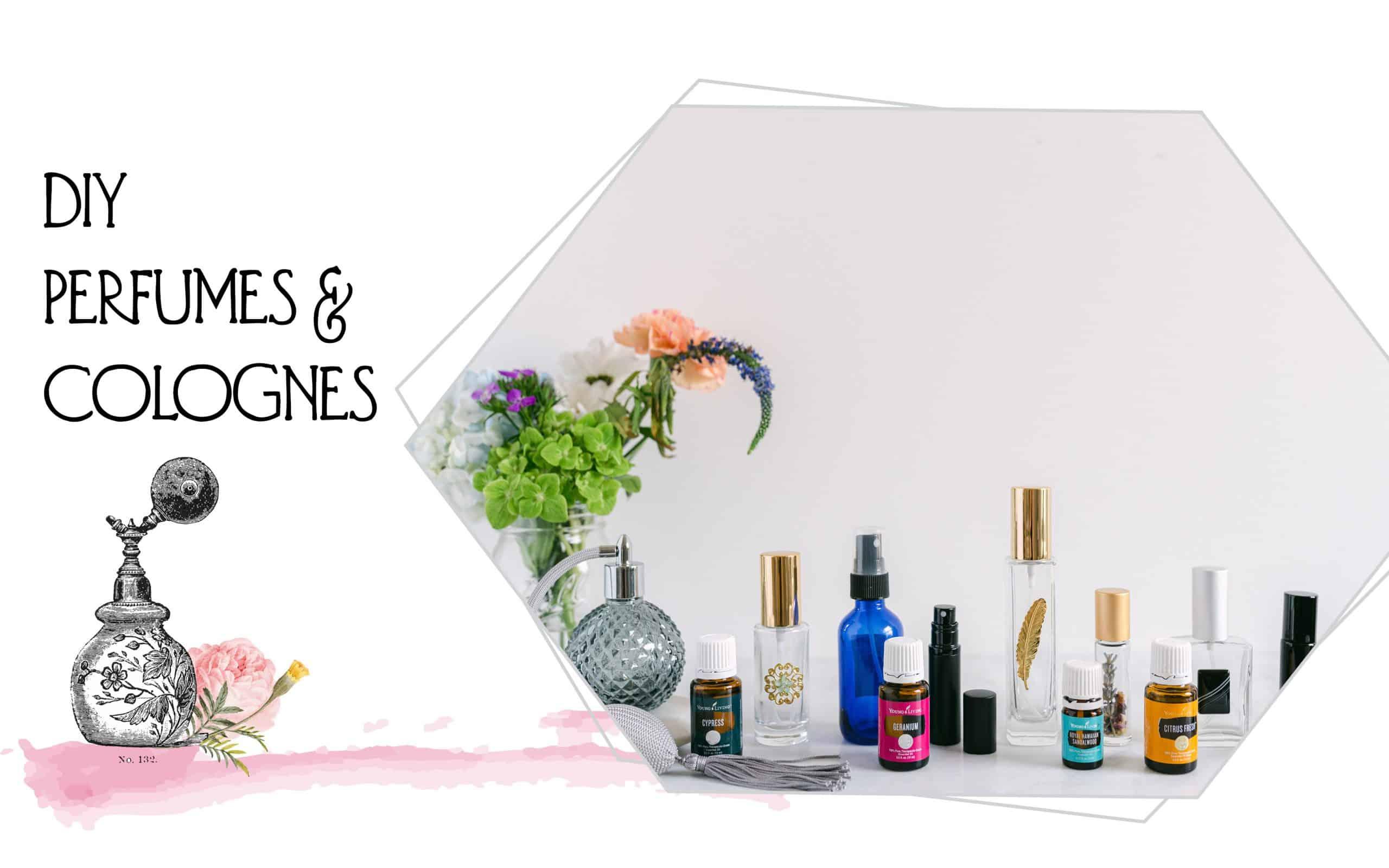 Photo of perfume bottles on a white background
