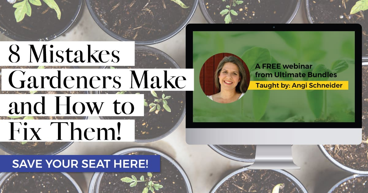 Free gardening webinar about common gardening mistakes and how to fix them.