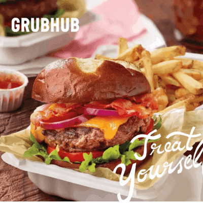 Juicy Cheeseburger with fries in a takeout container