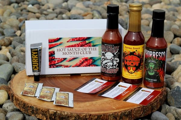 Hot sauce of the month box.