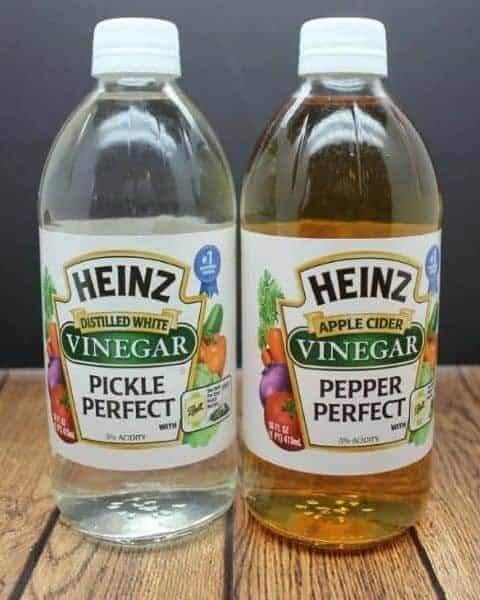 two bottles of vinegar