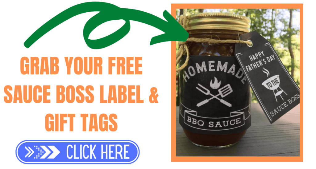 Free sauce boss label and gift tag for father's day.