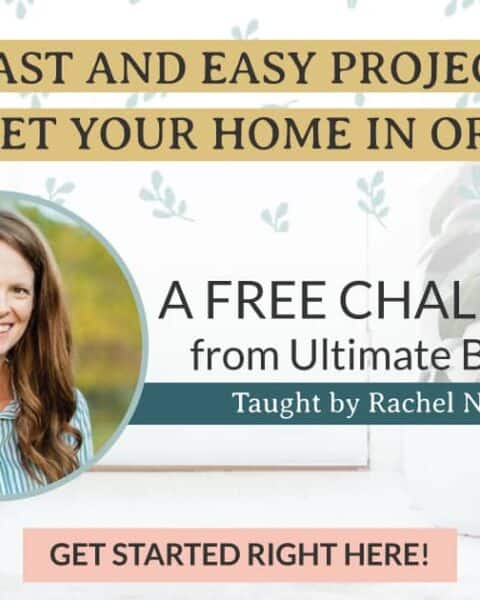 A free challenge from Ultimate Homemaking Bundle to get your home in order.