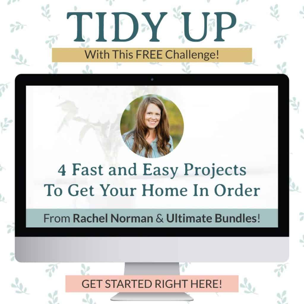 Learn how to tidy up your home with this free challenge to get your home in order fast.