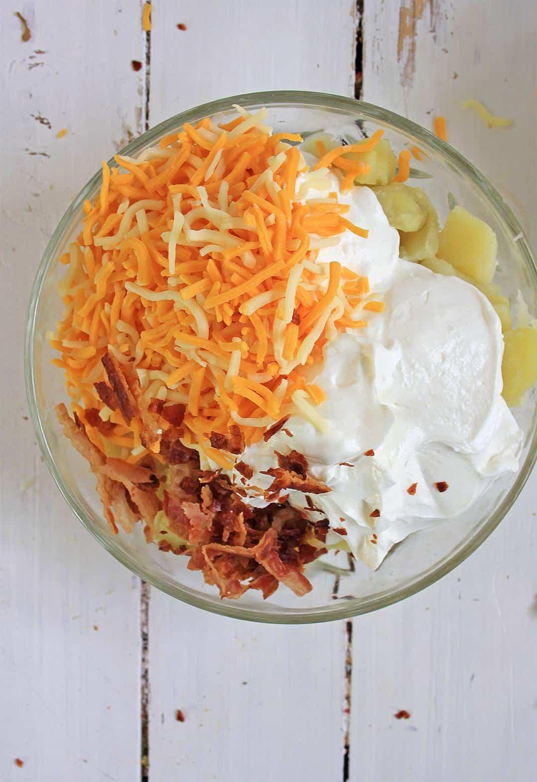How to make a Loaded Baked Potato Salad.
